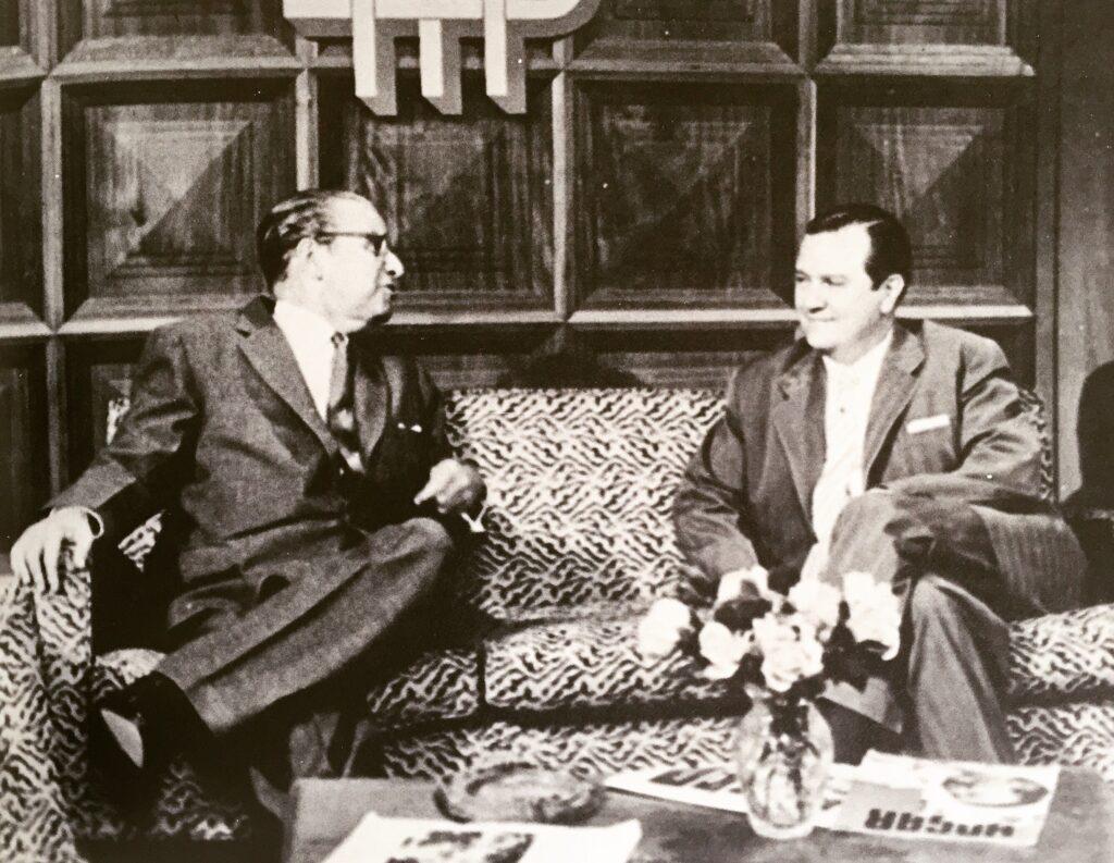 1958. Entrevistado por Mariano Picón Salas en el programa de RCTV, La Hora Nacional.