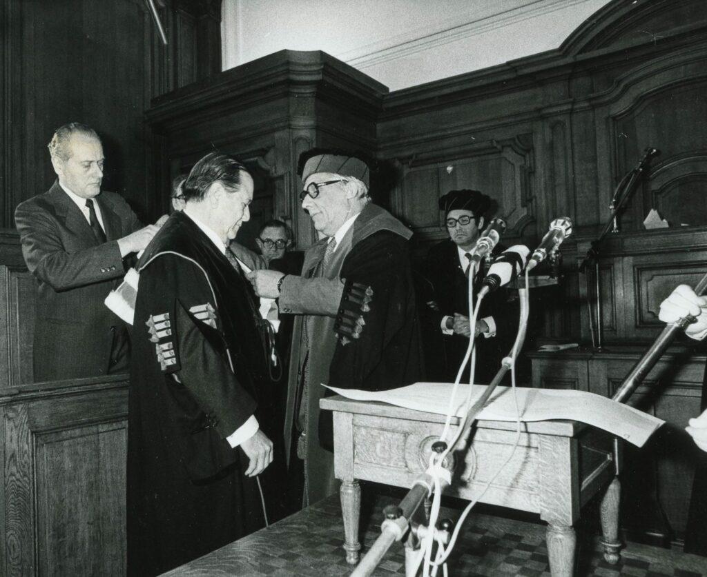 1979. Febrero, 2. Palabras al recibir el Doctorado Honoris Causa de la Universidad de Lovaina