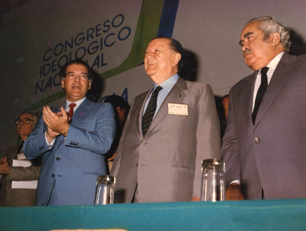 Eduardo Fernández, Rafael Caldera y Luis Herrera Campíns