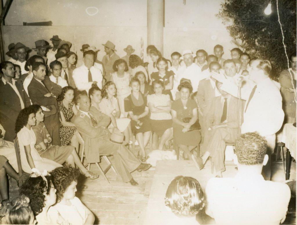 1947. Noviembre - Diciembre. Acto en El Tocuyo, en la campaña electoral presidencial.