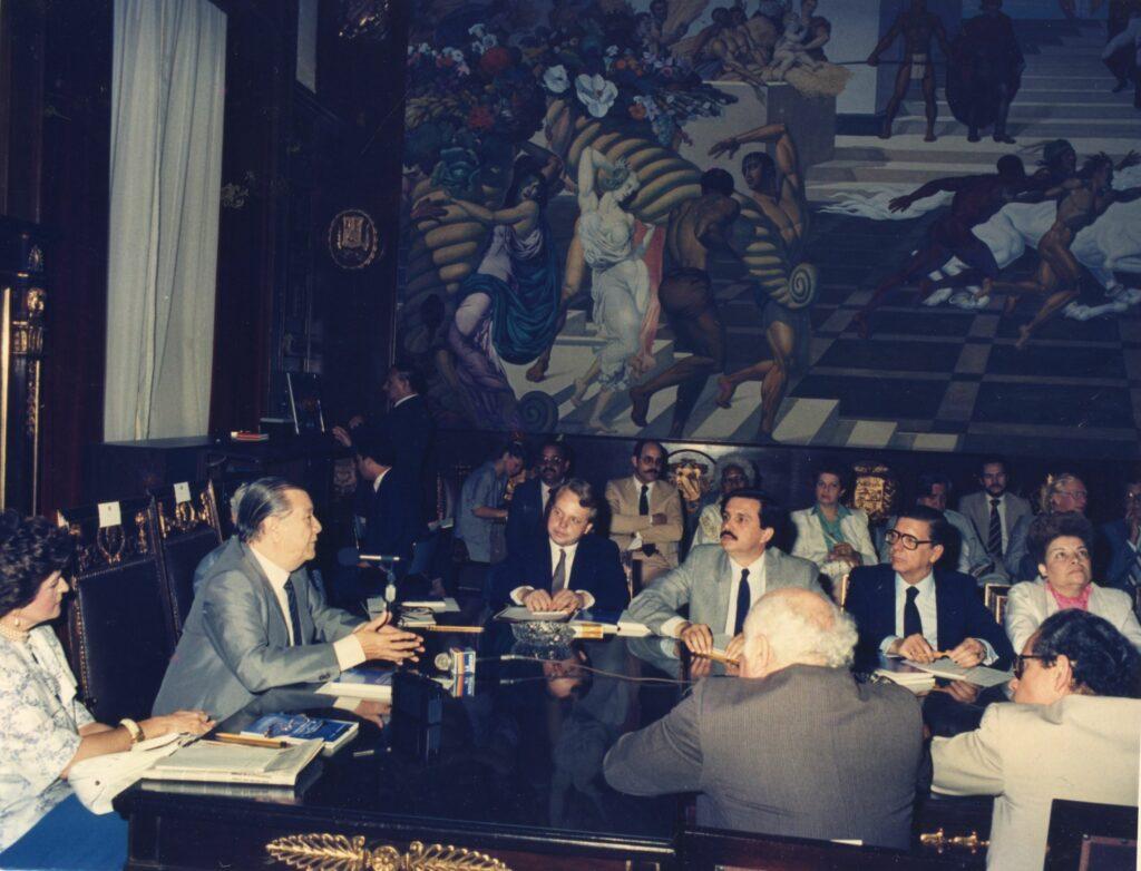 1985. Agosto. Instalación de la Comisión Bicameral para la reforma de la Ley del Trabajo.