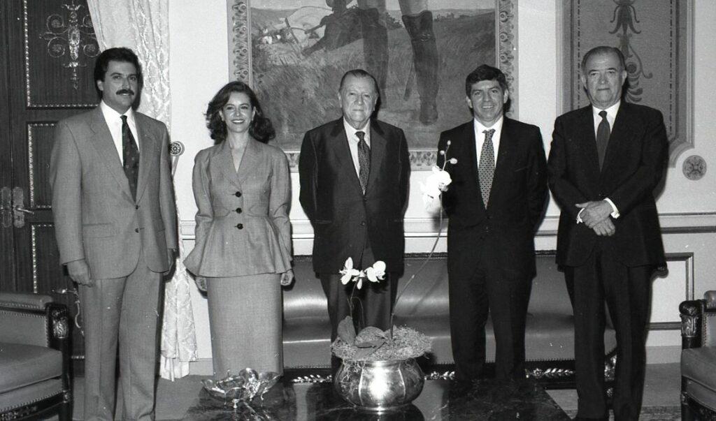 1994. Mayo, 6. Visita oficial del presidente de Colombia, César Gaviria, a Venezuela. Palacio de Miraflores.