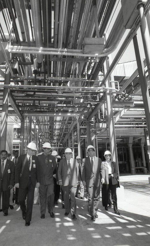 1997. Diciembre, 3. Inauguración de la planta para la elaboración de acento Cargill. Valencia, estado Carabobo.