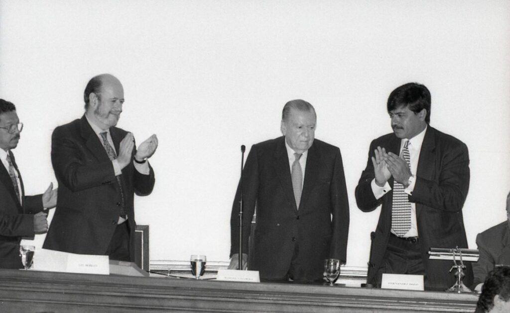 1997. Mayo, 19. XIII Conferencia Interparlamentaria de la Unión Europea y América Latina en la Cámara de Diputados del Congreso de la República