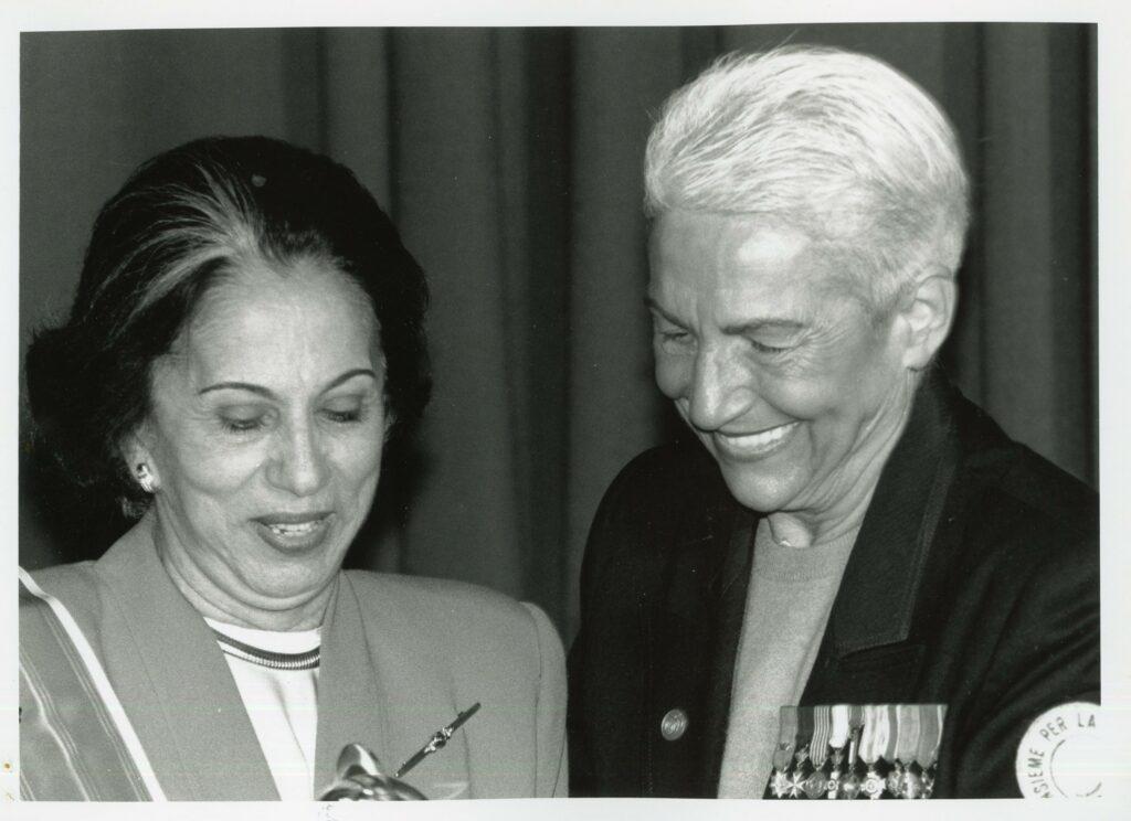 1995. Mayo, 8. Palabras de Alicia Pietri de Caldera al recibir la distinción Mujer por la Paz