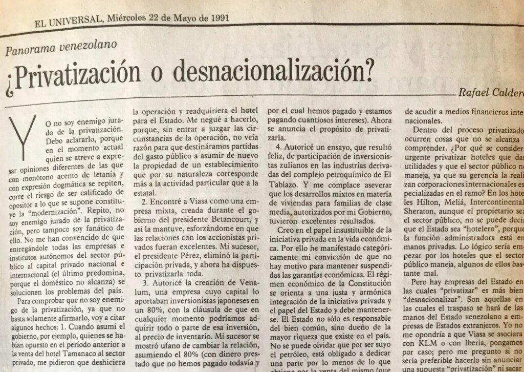 ¿Privatización o desnacionalización?