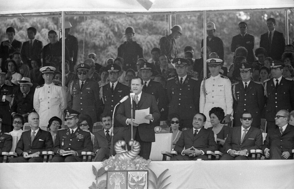 Rafael Caldera en el Campo de Carabobo en 1971