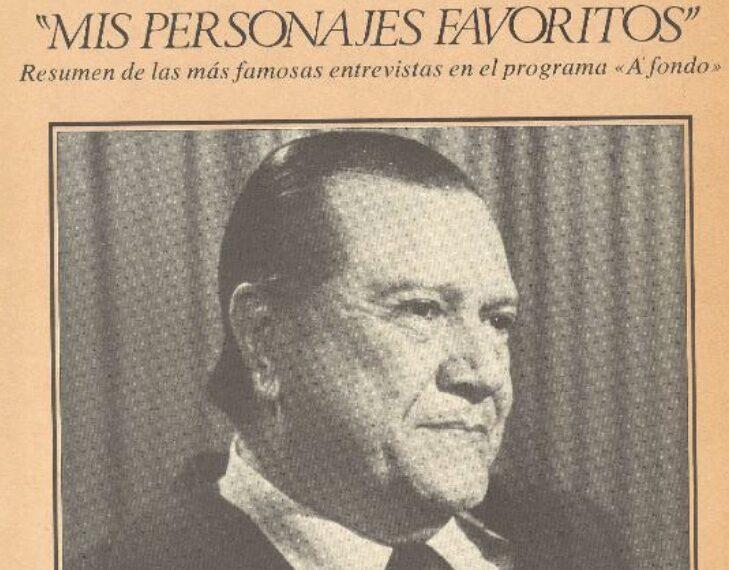 1989. Joaquín Soler Serrano entrevista a Rafael Caldera