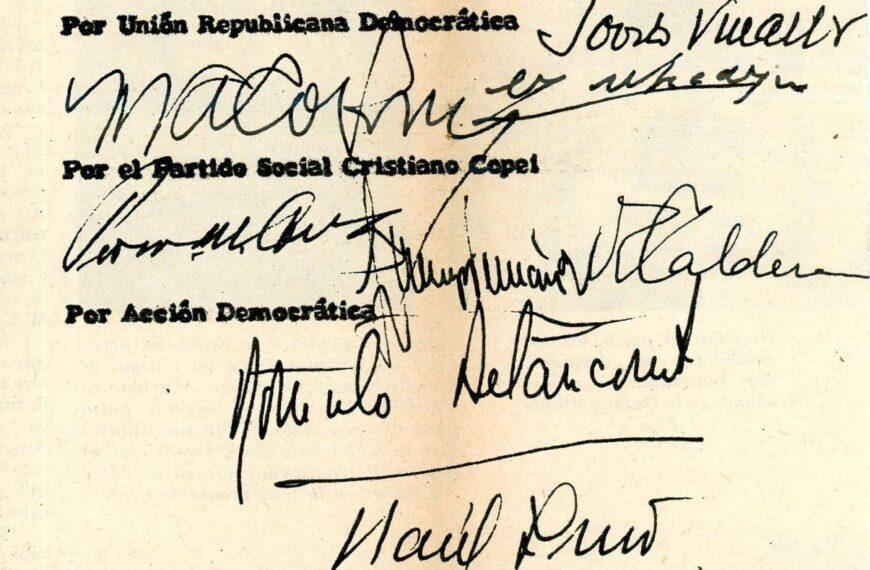 1959. Noviembre, 8. Debemos volver a la interpretación justa y cabal del Pacto de Puntofijo